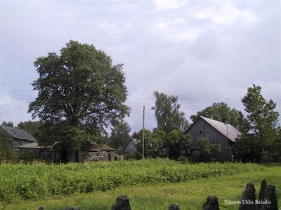 Kuoštrõg village panorama.