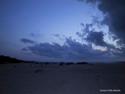 Moonlit dunes.